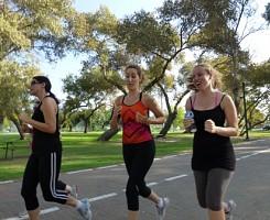 אימון ריצה בפארק הירקון